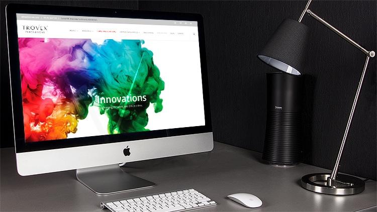 Homepage of Trovex Innovations responsive website design