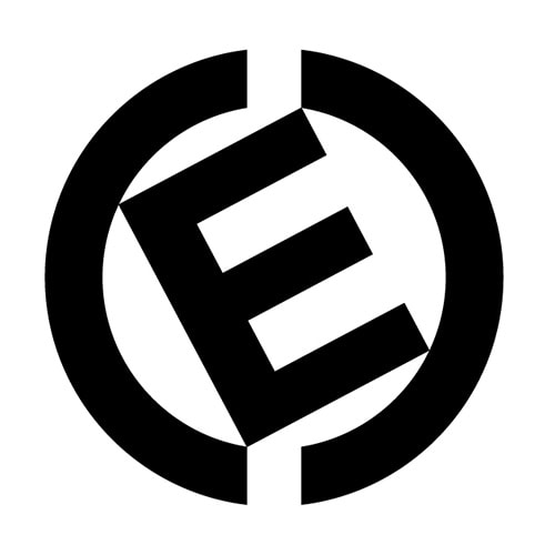 CED logo design symbol in black and white